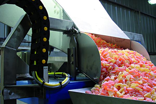 Průmyslové váhy pro potravinářský sektor.